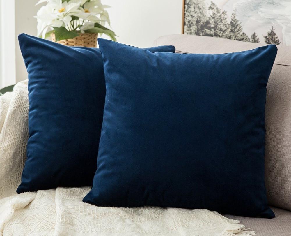 Velvet pillows from Amazon