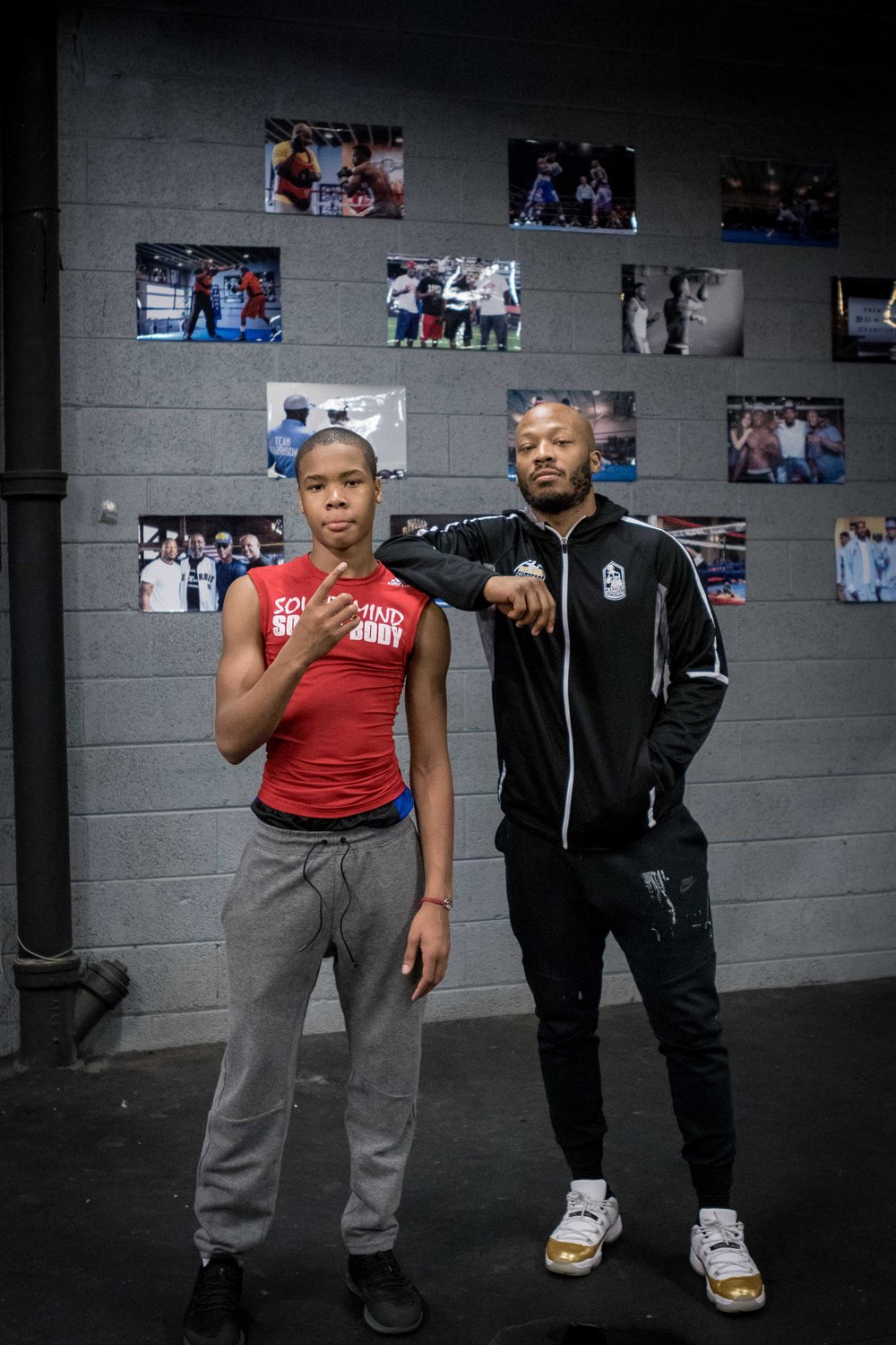 L.J. Harrison (trainer) and Gary Morris after another intense workout at Superbad Fitness.