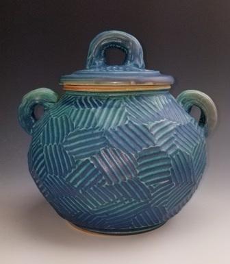"Cynthia Bringle  Lidded Jar, 9"" x 9"" x 9""  Retail Value: $420"