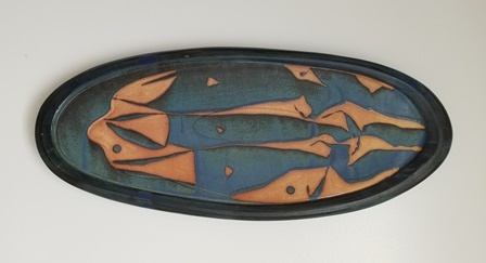 "Nick Joerling  Oval Platter, 25.5"" x 10.75"" x 1.75""  Retail Value: $325"