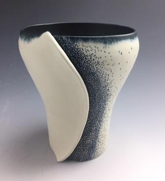 "Desiree Petty  Vase, 7.5"" x 6"" x 6""  Retail value: $200"