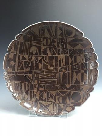"Herb Cohen  Platter, 2.5"" x 14"" x 14""  Retail value: $1200"