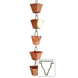 COPPER SQUARE CUP RAIN CHAIN