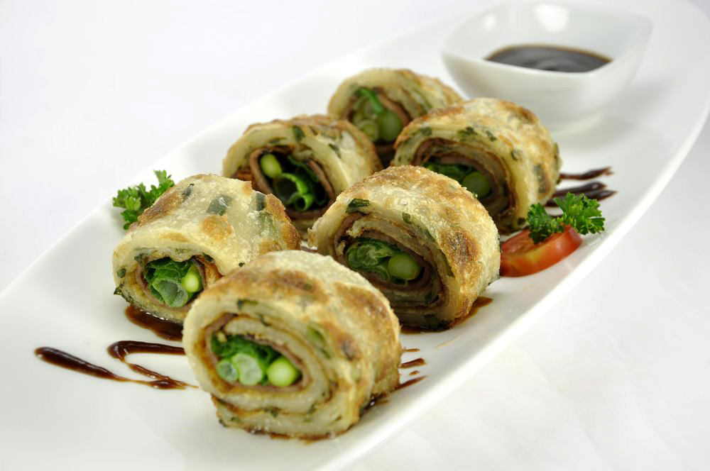 Beef Scallion Pancake Rolls