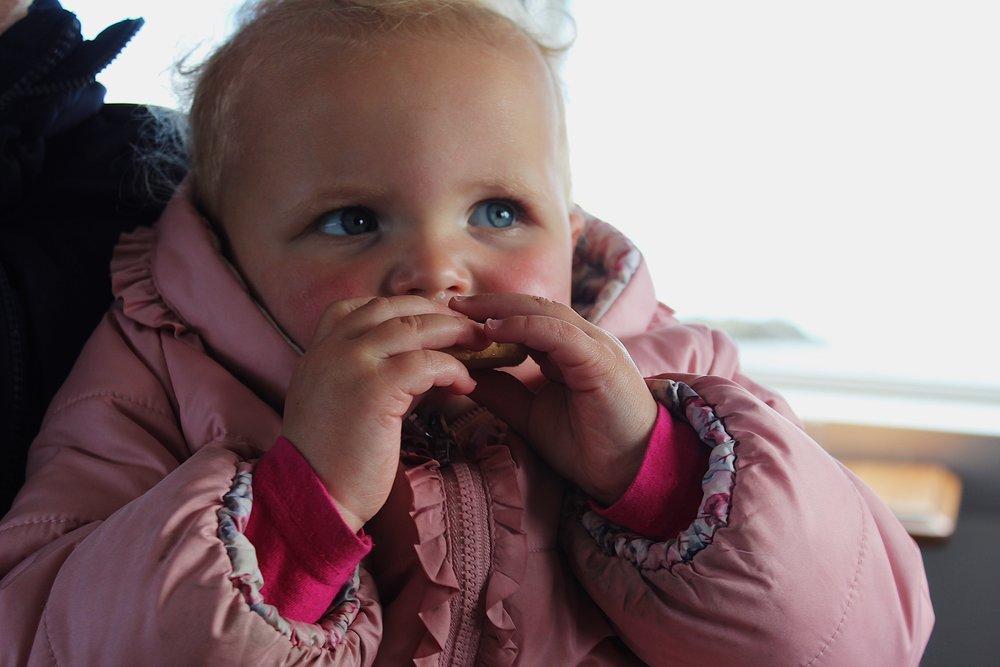 Matilda enjoying the shortbread