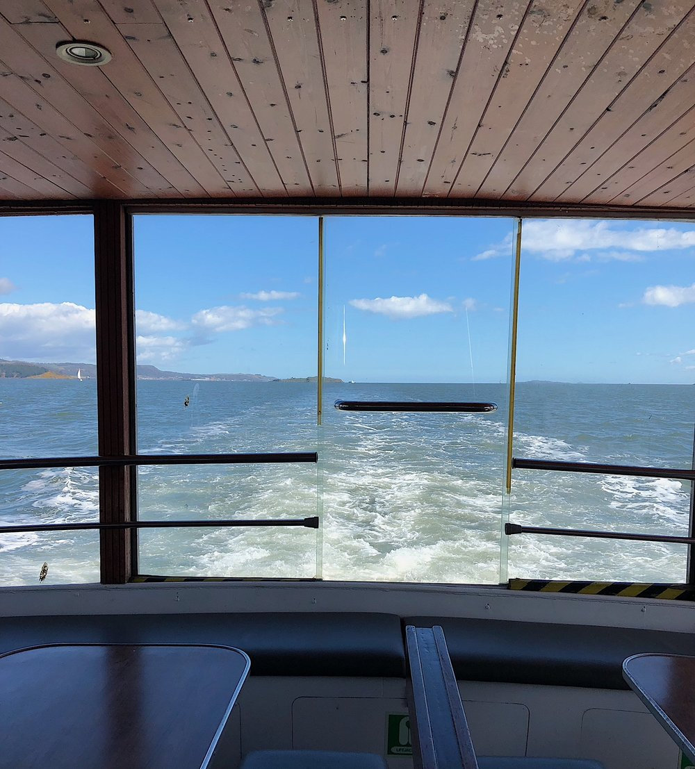 The Panoramic window at the back of the boat.