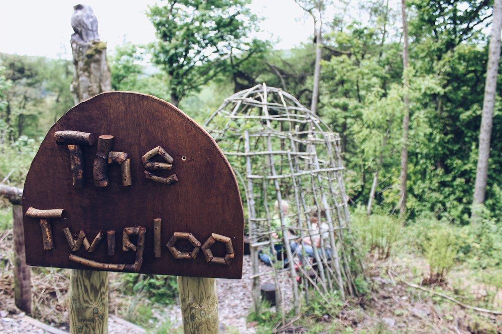 The 'Twigloo' at Blaze Farm