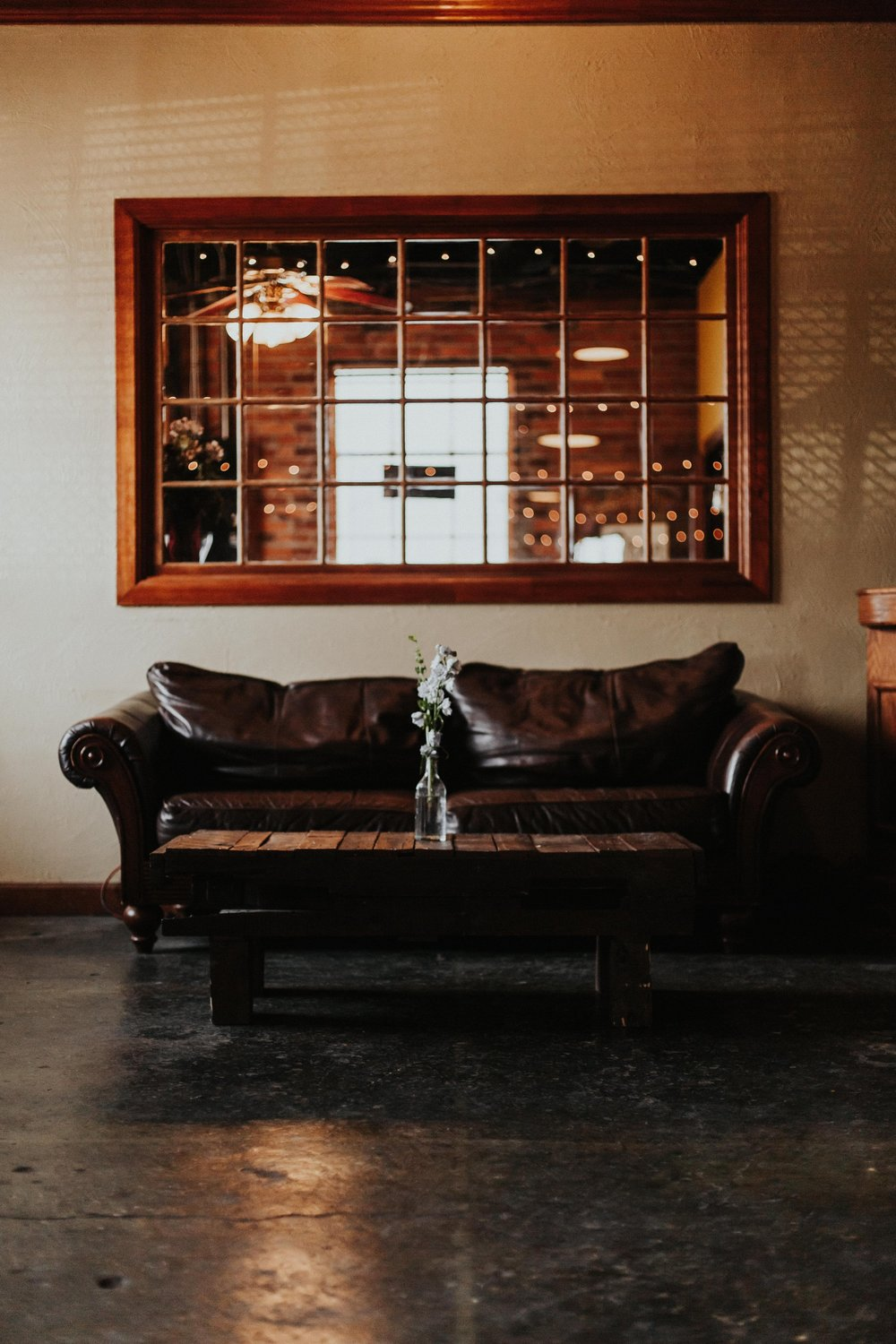 Furniture - Whether your event is an intimate wedding or a business meeting, all the furniture you will need is right here at the Foundry! We want to make your event planning effortless, providing anything from round tables, coffee tables, rectangular tables, to chairs and couches.