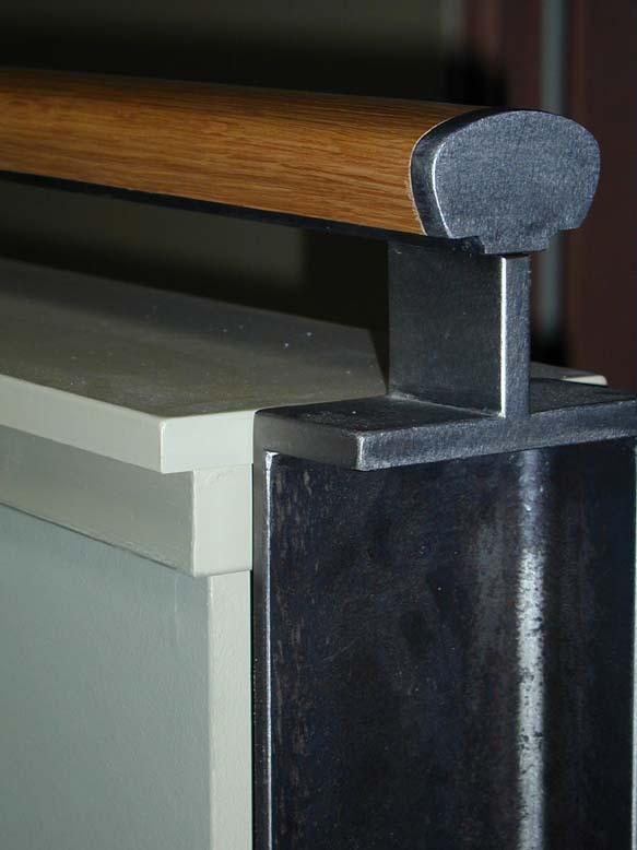 blackened steel rail end cap & post.JPG