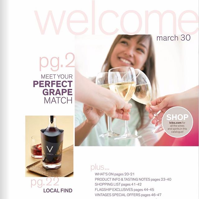 Have you received your @LCBO #Vintages magazine yet for the March 30 release? Check out page 22! We're SO excited! #vineaspirit is in this release.