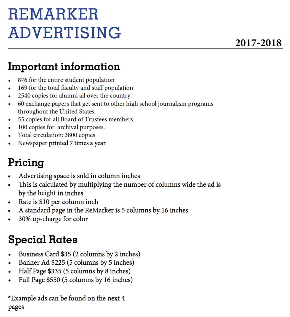 Click on the image above to view the PDF we send to advertisers interested in investing in our publication.