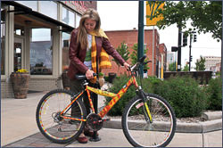 The Beginnings of the Publik Bike Projekt. 2009  - Donated bicycles through the Hutchinson Police Department, were painted and placed on the street for use downtown.