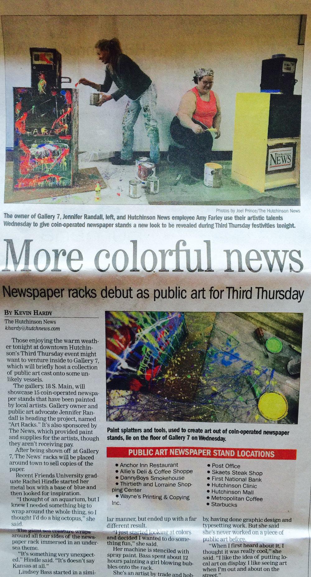 Art Rack Community Art Project. 2011 -