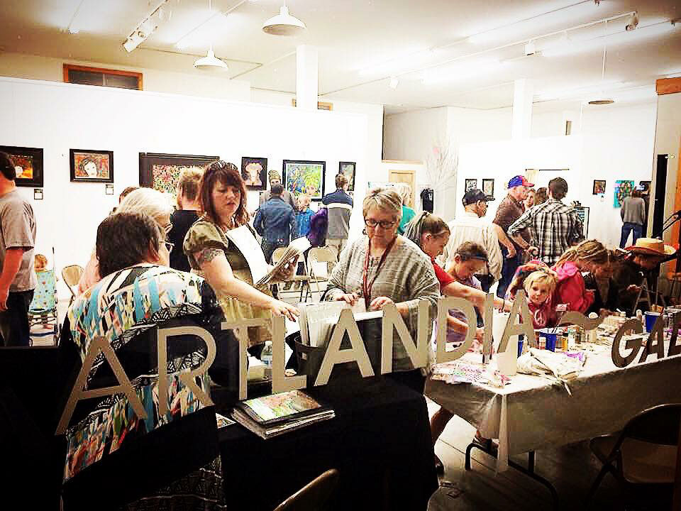 Artlandia - Artlandia, the headquarters for Third Thursday and a Gallery open for the community, with monthly rotating Art Exhibits. I began Artlandia in 2015.
