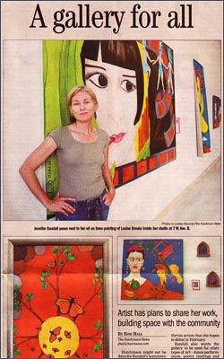 The Kansas Gallery Beginnings - My gallery in Hutchinson, Kansas circa 2008