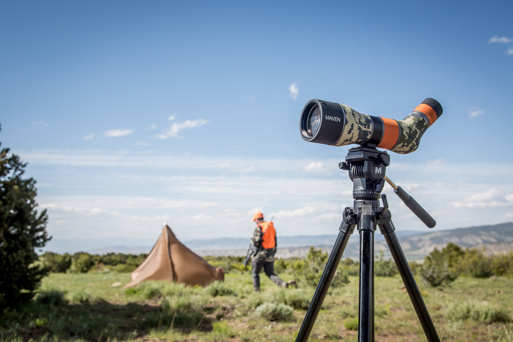 Spotting Scope Hunting Camp - Commercial Photography