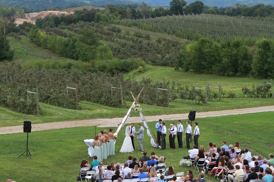 Our apple orchard provides the perfect backdrop for your ceremony