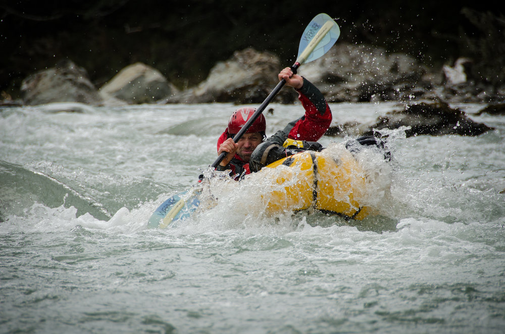 Paddling the Dart River, New Zealand