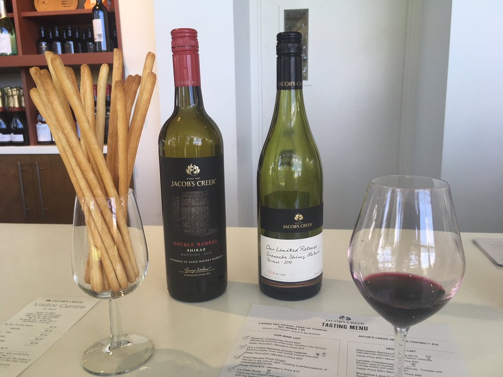 Jacob's Creek - the largest winery in Australia.