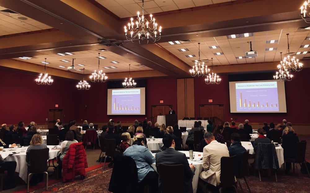 Dr. Scott Shipman, AAMC, provides the keynote address at WCMEW's 2018 Workforce Summit.