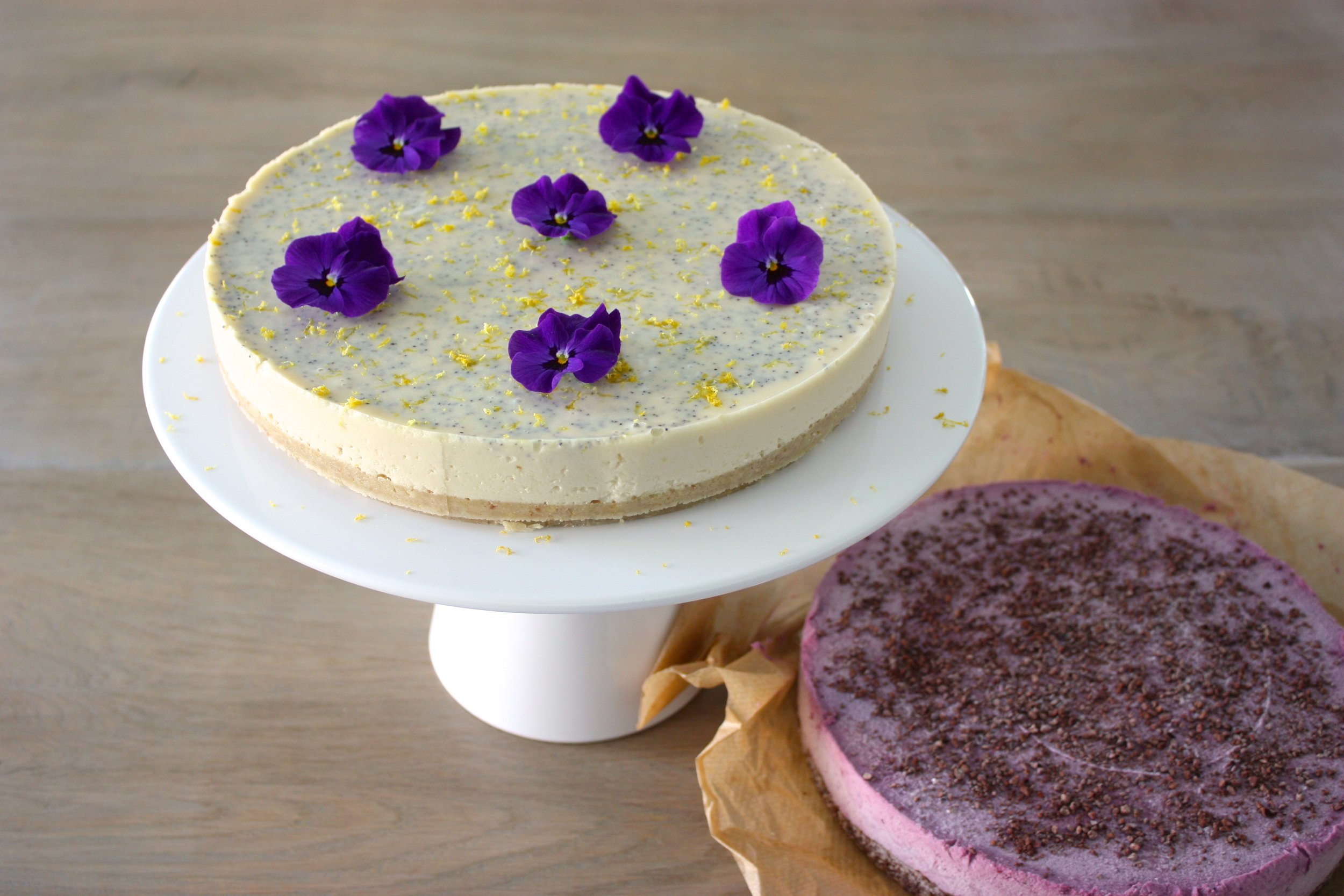 Lemon Poppyseed Cheesecake & Berry Brownie Cheesecake