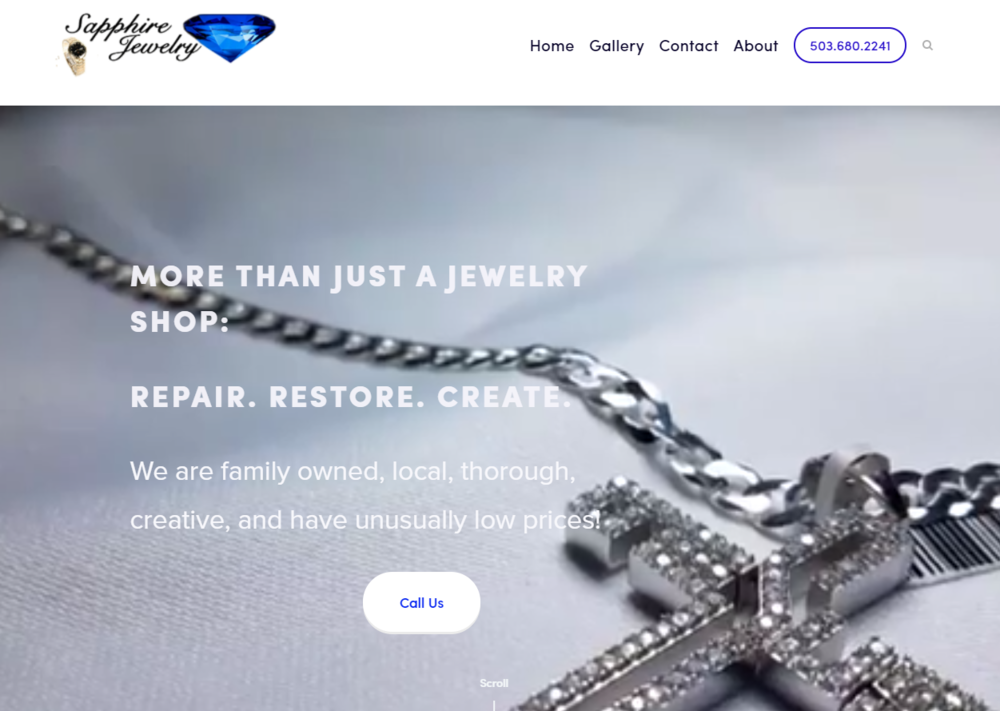 Sapphire Jewelry | Website, photos, video, copyright, slogan, seo
