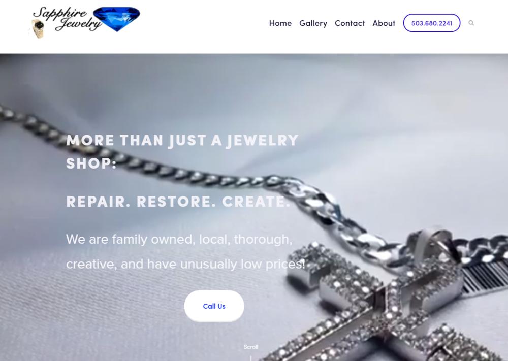 Copy of Sapphire Jewelry | Website, photos, video, copyright, slogan, seo