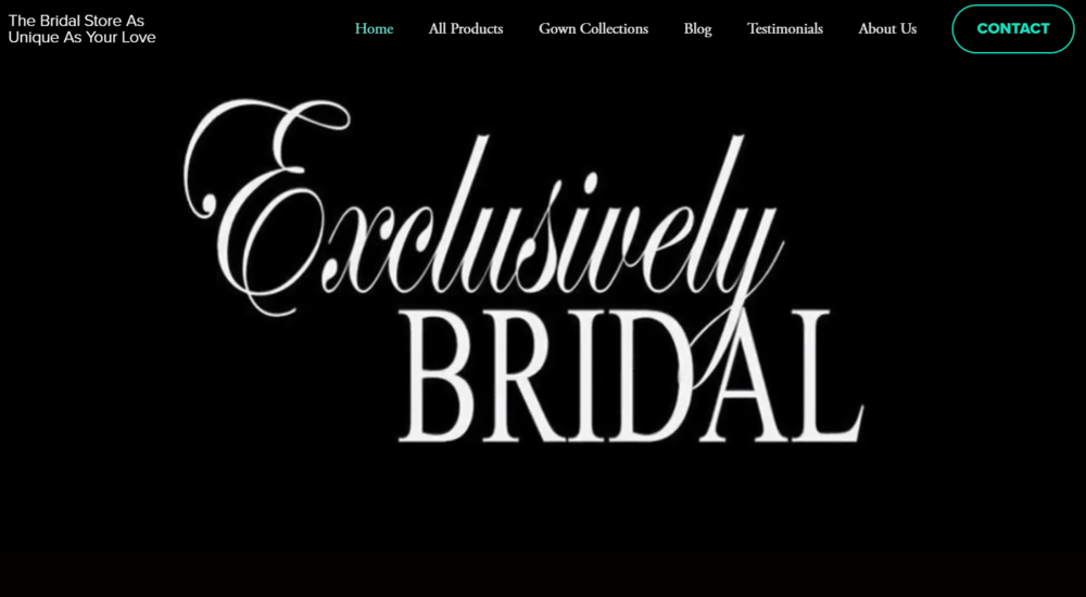 Exclusively Bridal | Website, SEO, Video, Copyright, FB Live