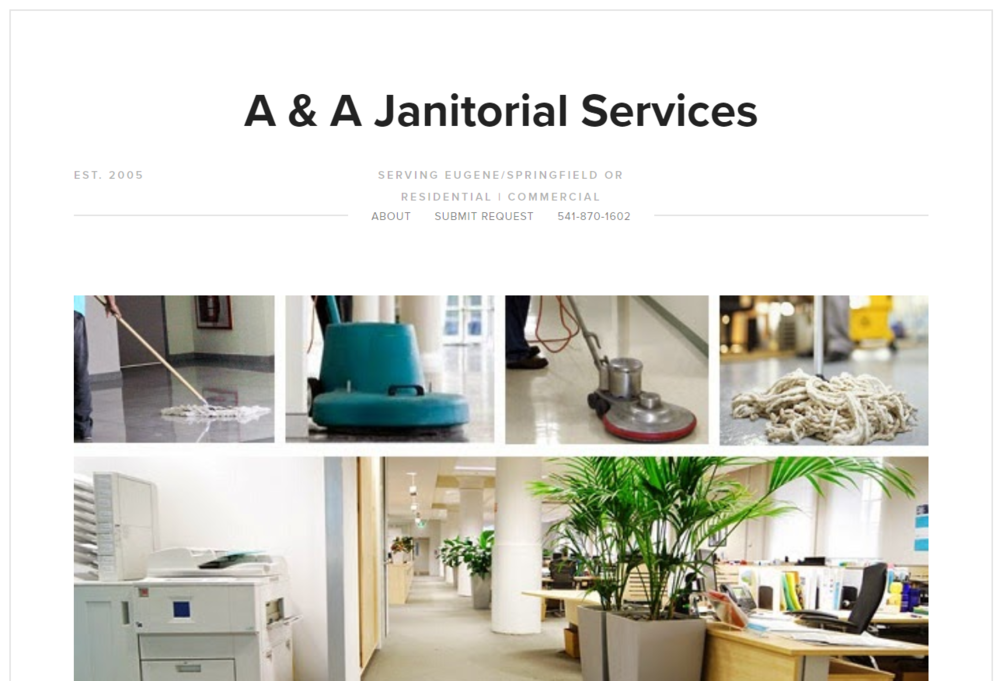 Copy of A & A Janitorial Services | Website, copyright, video, seo