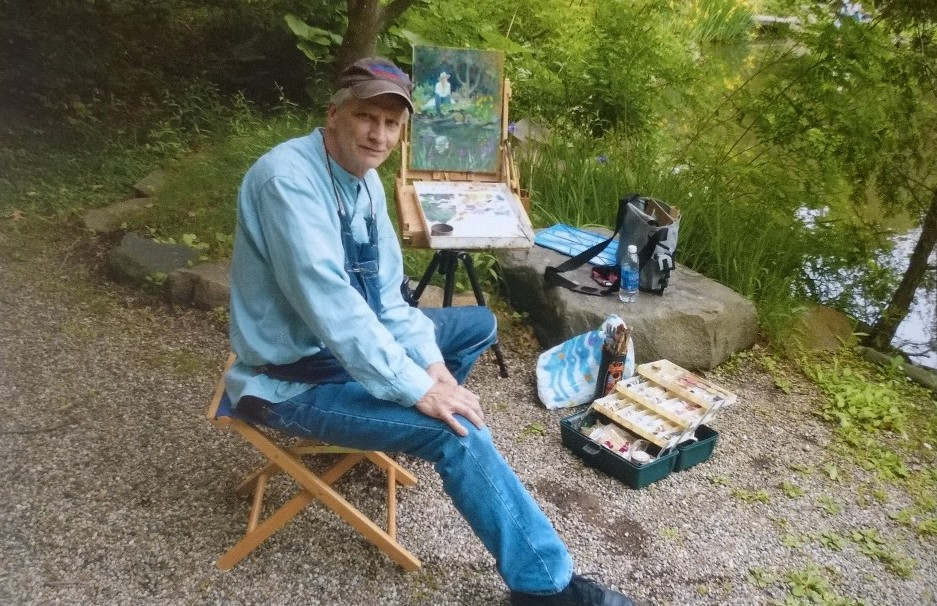 Plein air painting at Cranbrook Oriental Gardens, Bloomfield Hills MI