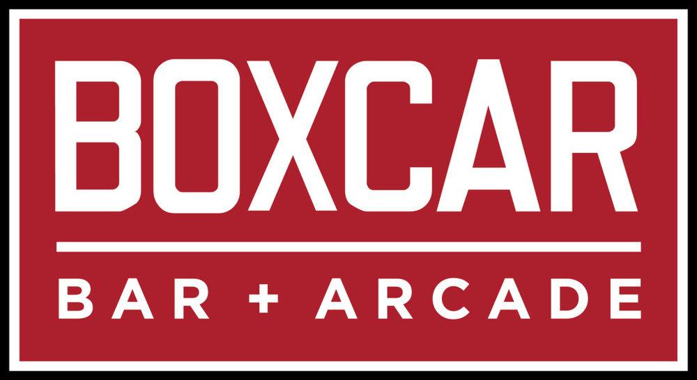 Logo courtesy of Boxcar Bar + Arcade