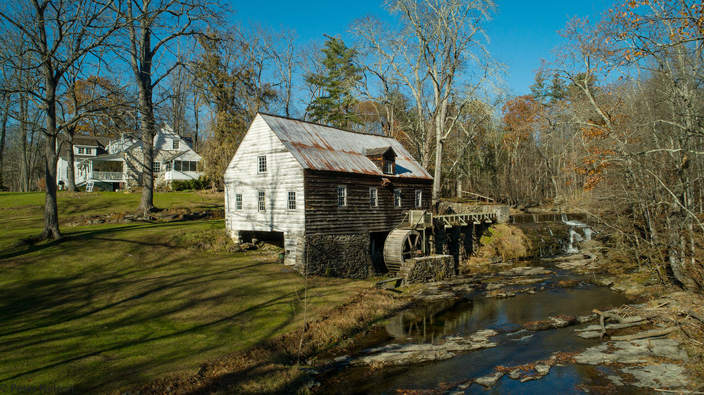 A working water powered grist mill on the Kripplebush Creek