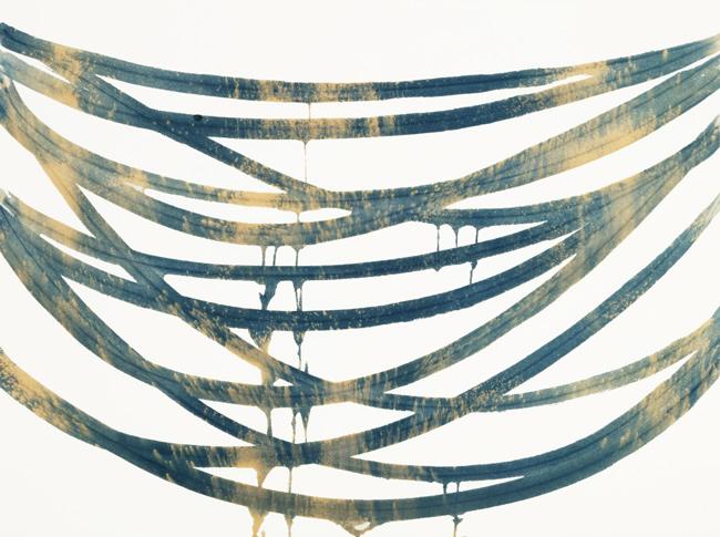 Horizontal Blue Suspension 4