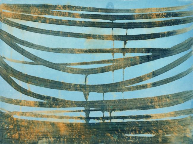 Horizontal Blue Suspension 5