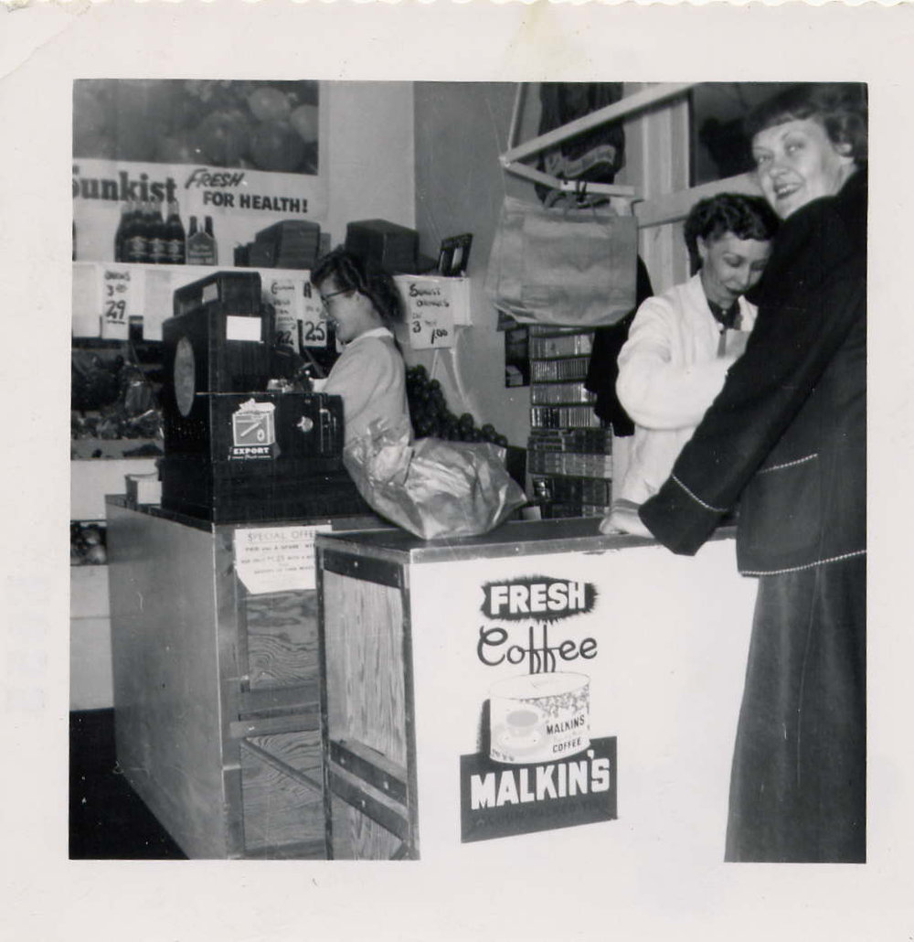 Cashiers in store on Alexader Street in early 1960's