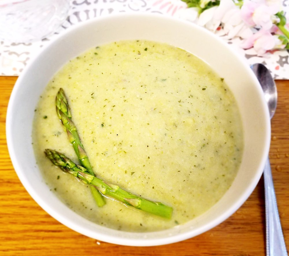 Lemon Artichoke Asparagus Soup