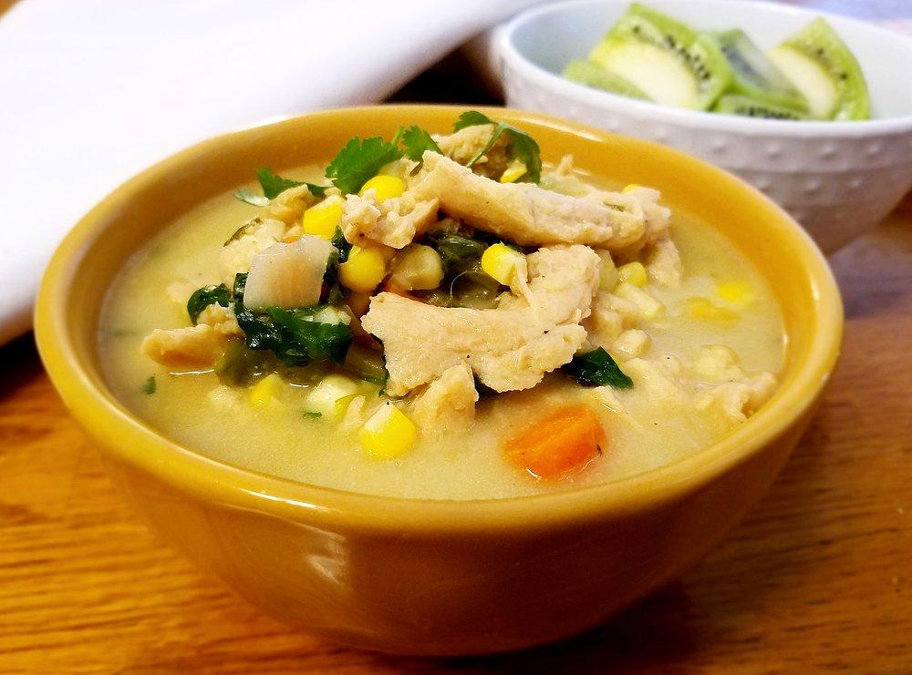 Soy Curl Corn Soup