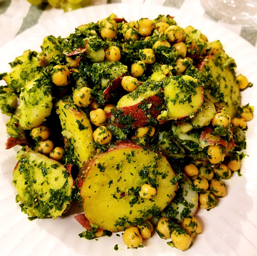 Chimichurri Chickpea Potato Salad