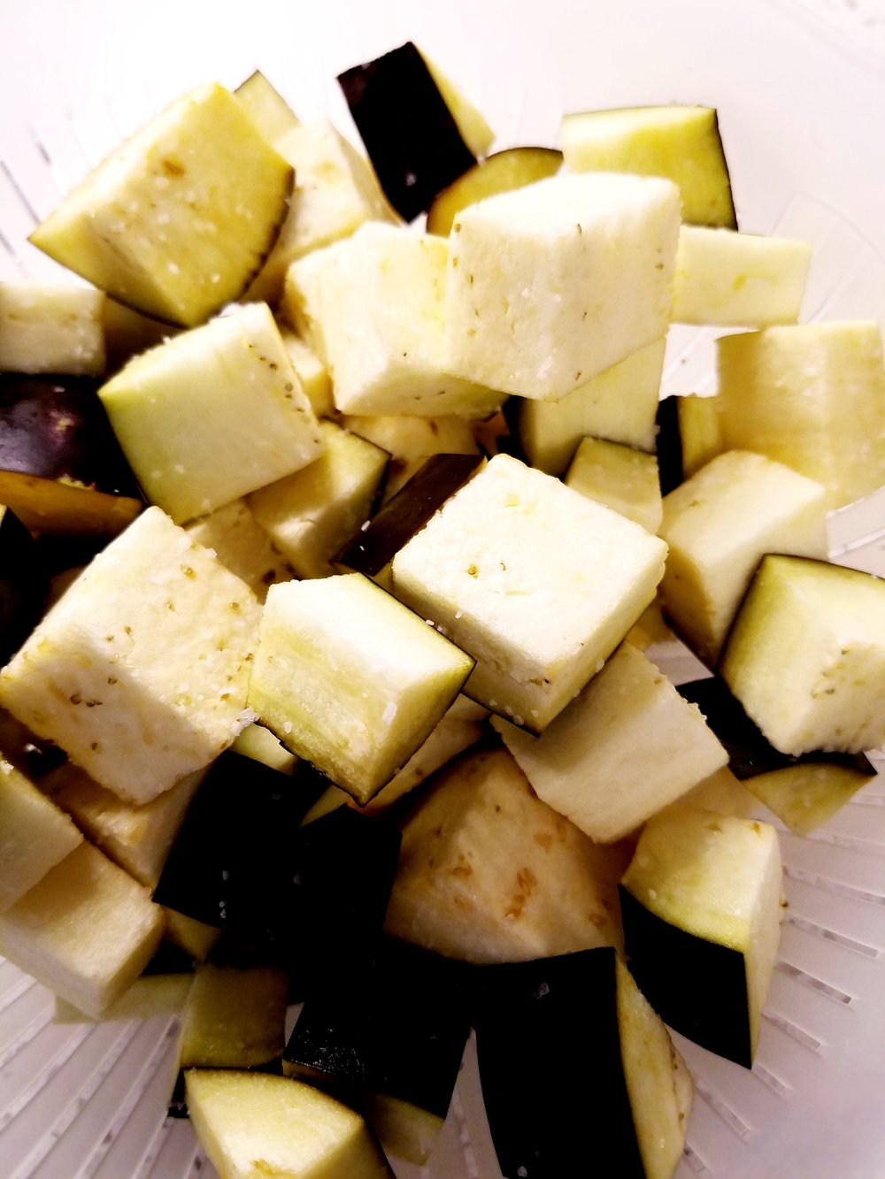 Salting Eggplant