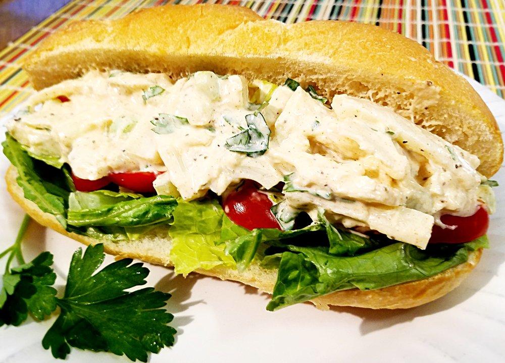 Vegan Crab Salad Sandwich