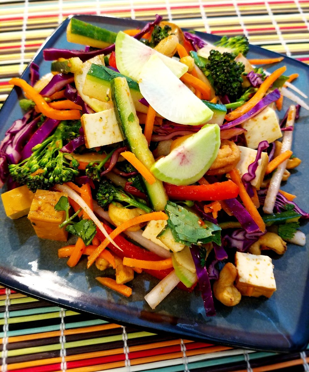 Lime Red Curry Salad