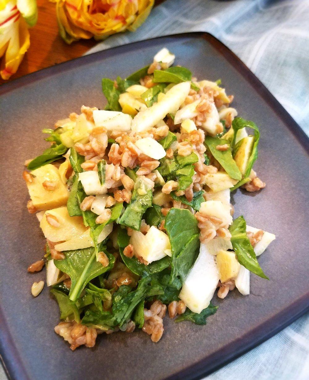 Artichoke Fennel Farro Salad