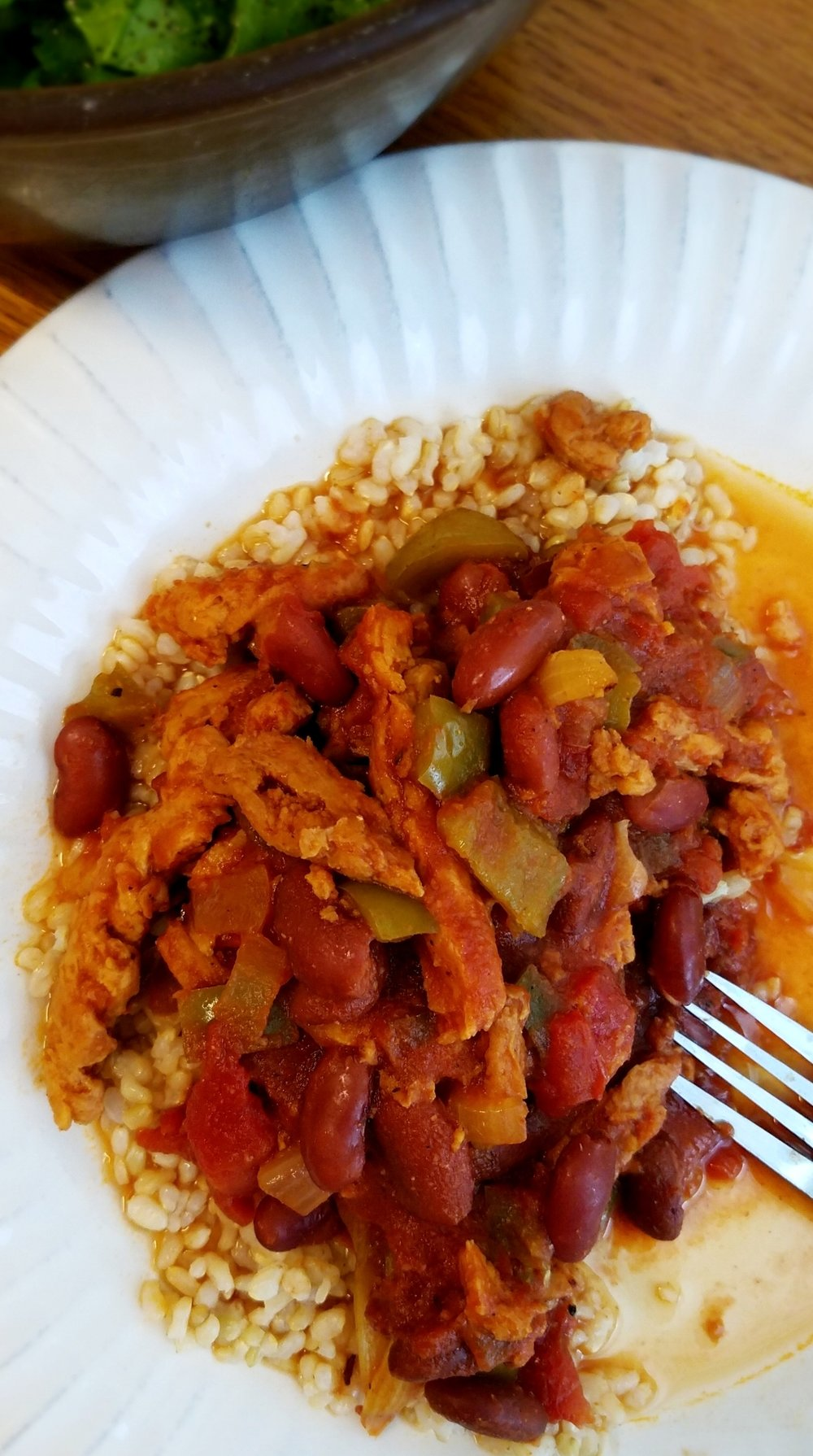 Cajun Kidney Beans and Brown Rice