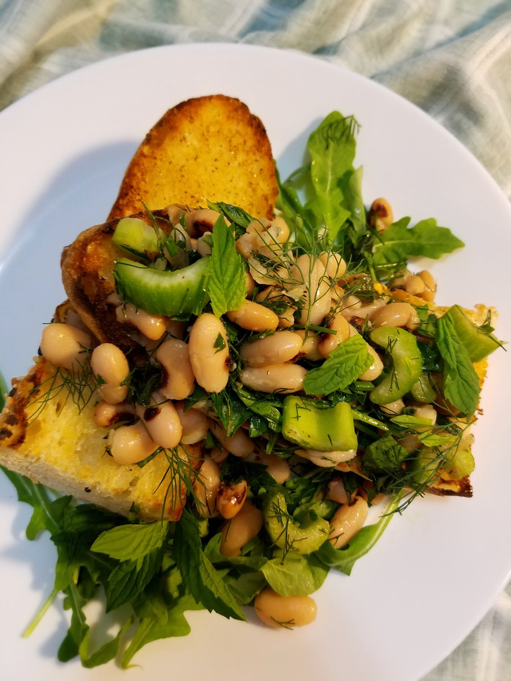 Herbed Bean Salad with Garlic Toast.jpg