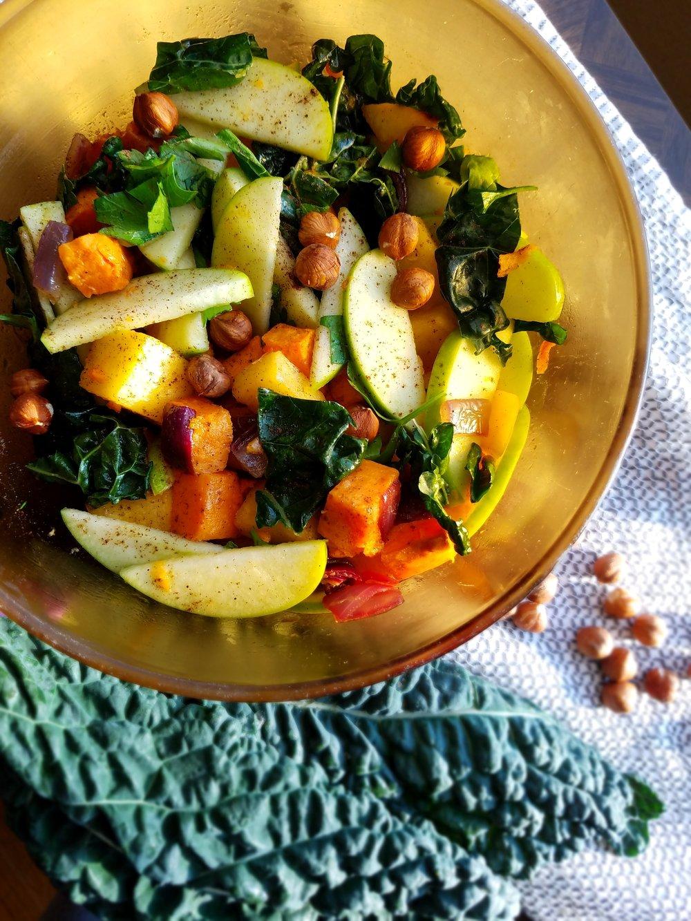 Roasted Sweet Potato, Rutabaga and Green Apple Salad with Hazelnut VInaigrette.jpg