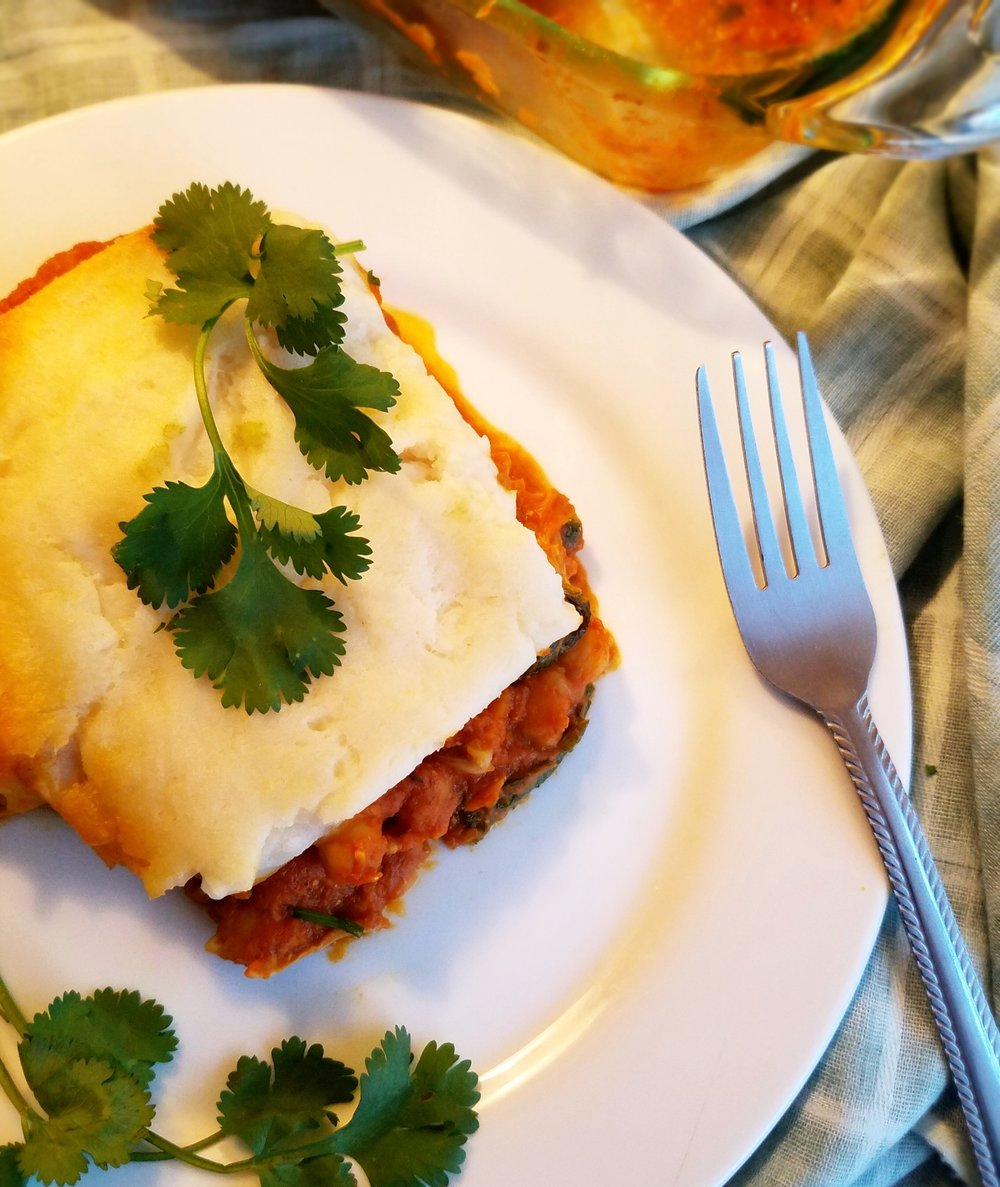 Madra Jackfruit-Chickpea Shepherd's Pie