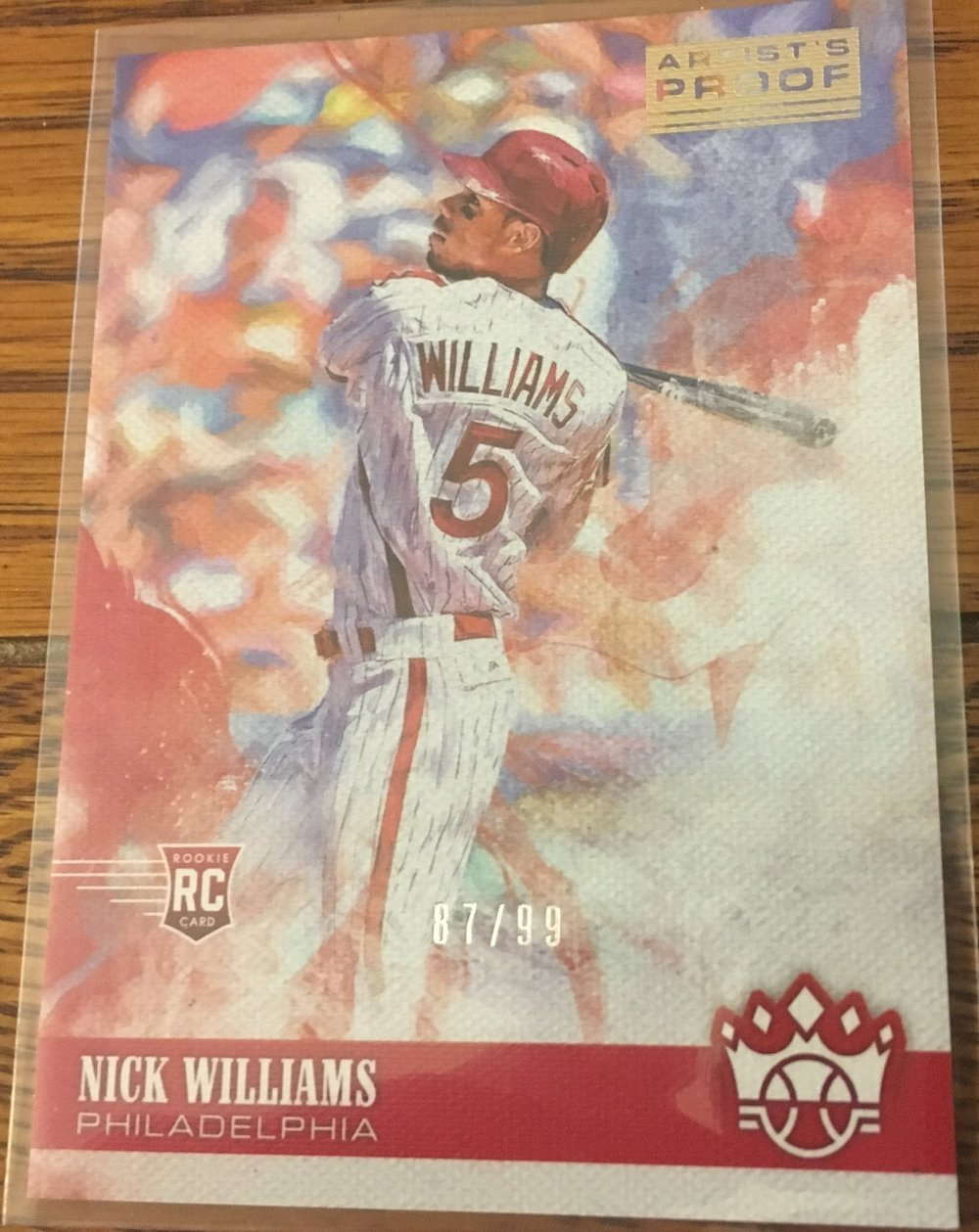 2018 Diamond Kings Nick Williams Artist Proof