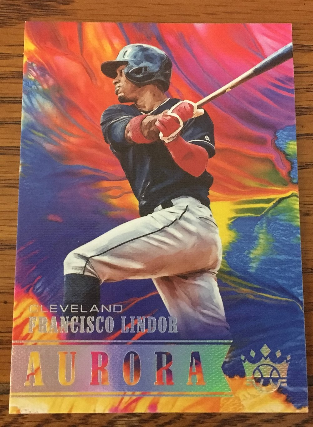 2018 Diamond Kings Francisco Lindor Aurora Insert