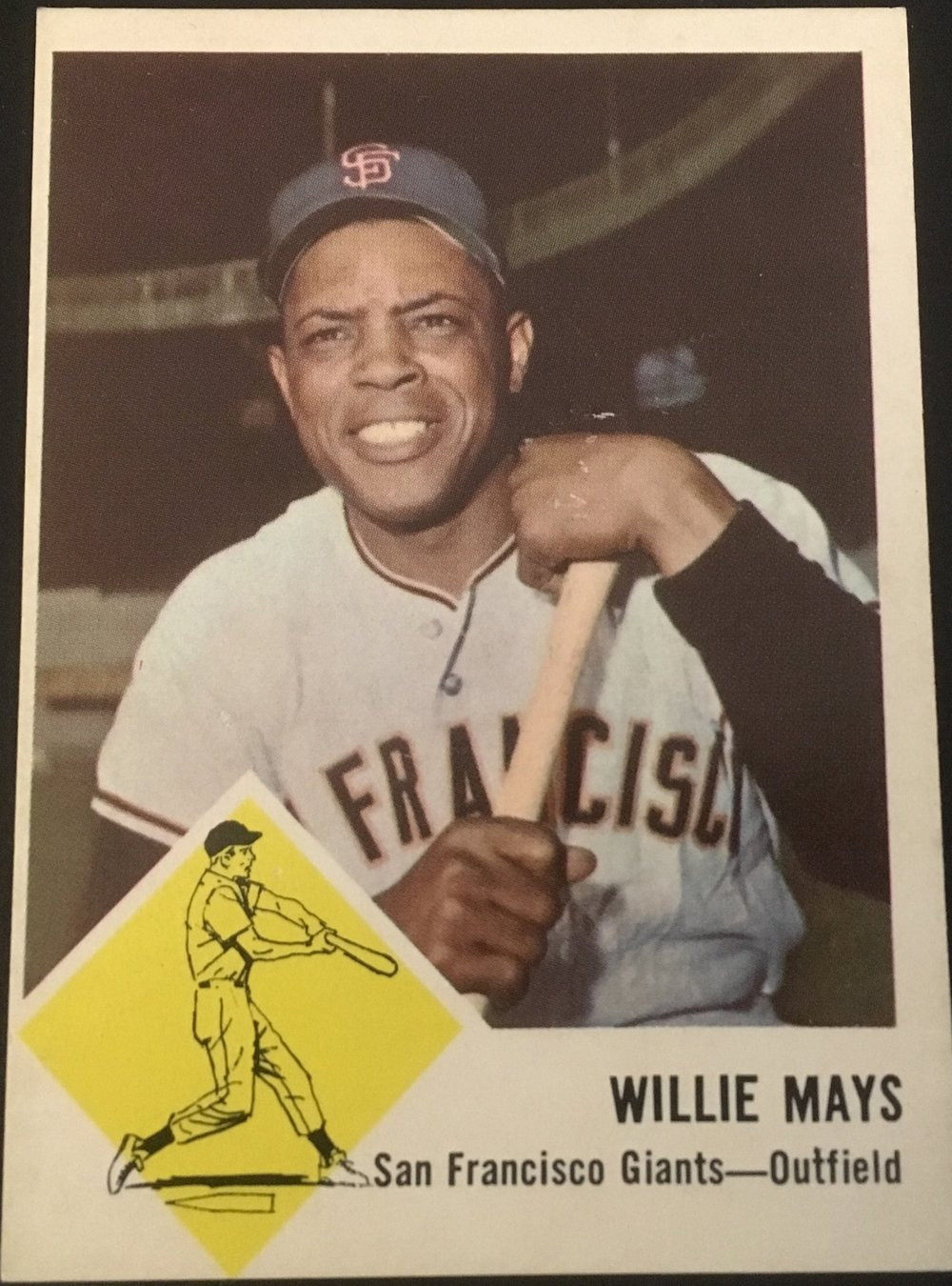 The 1963 Fleer Willie Mays is the oldest Mays in my collection.