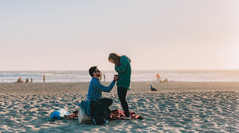 San Francisco Surprise Proposal Session Xilo Photography Ocean Beach